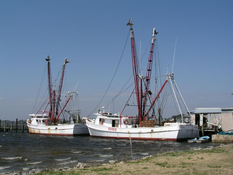 Swansboro Fishing Boats at Dock
