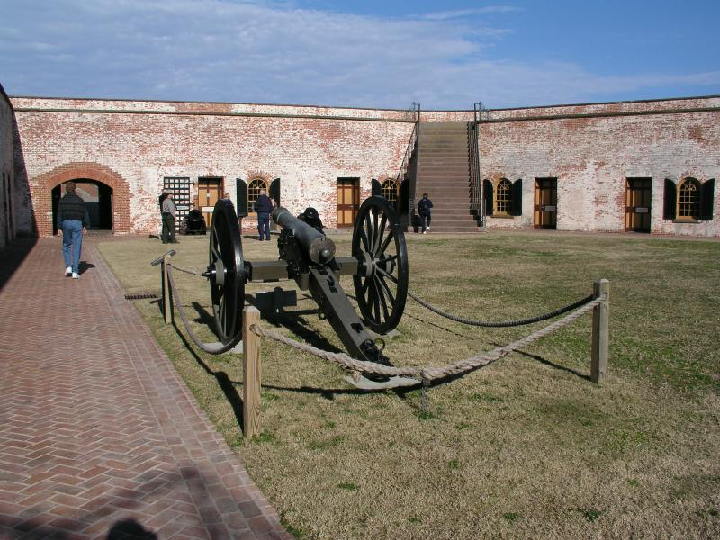 Fort Macon, NC Courtyard