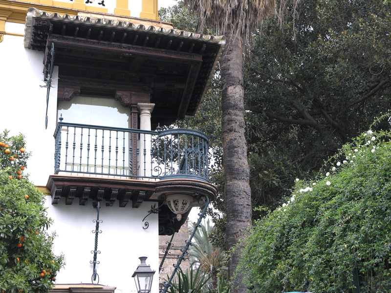 A balcony in Seville