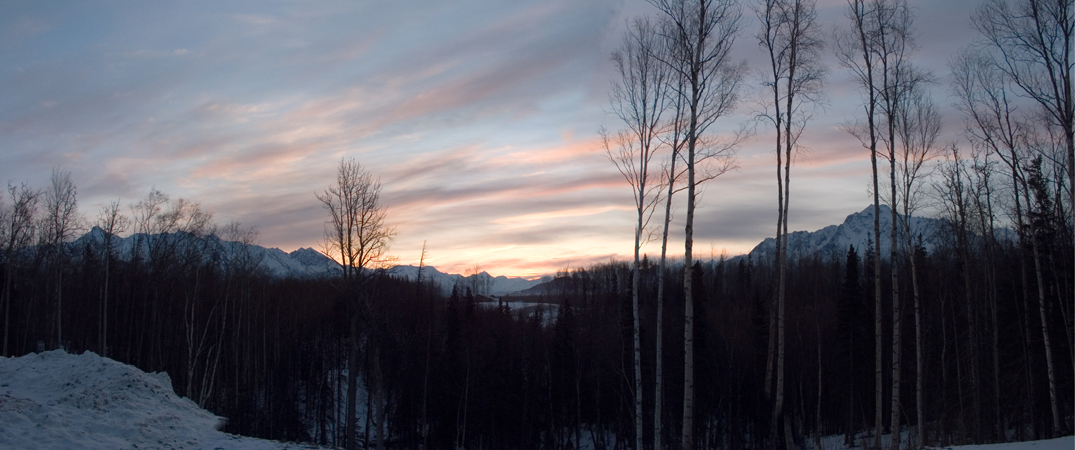 Pioneer Mountain Sunrise Panorama