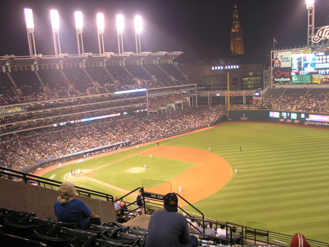 Jacobs field at night