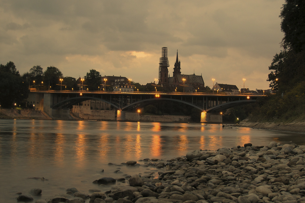 Basel M?nster (Church) at sunset