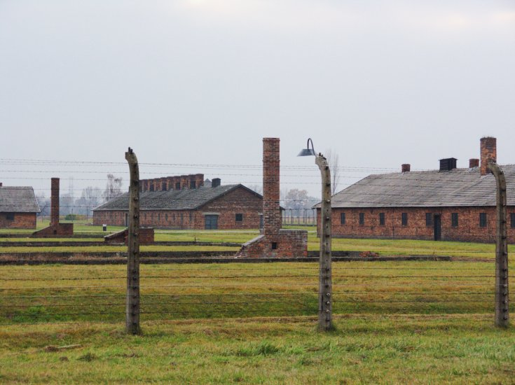 Aushwitz - Barracks Behind Wire