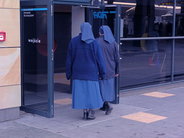 Nuns at Krakow Train Station