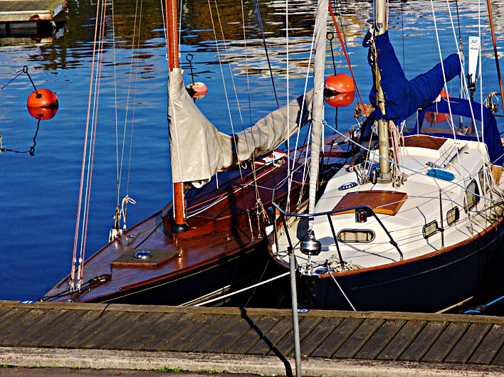 Pair of Moored Boats