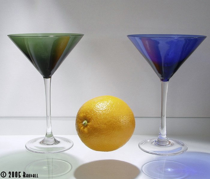 Martini glass and Orange