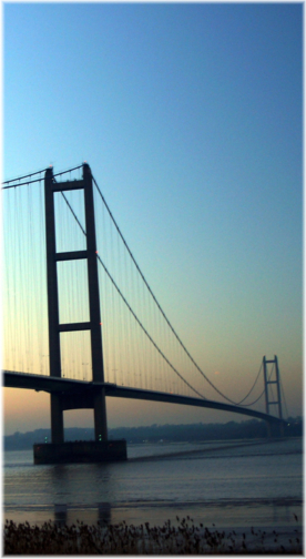 View of the Humber Bridge, East Yorkshire