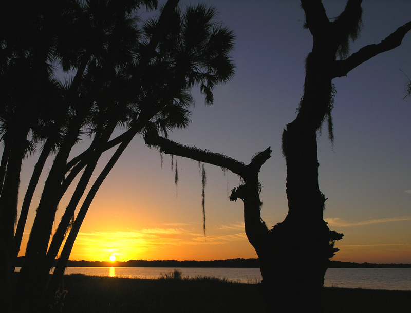 Sunset over Myakka Lake