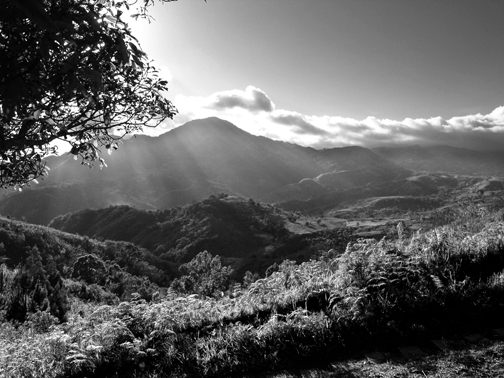 Afternoon over Mt. Tampurong