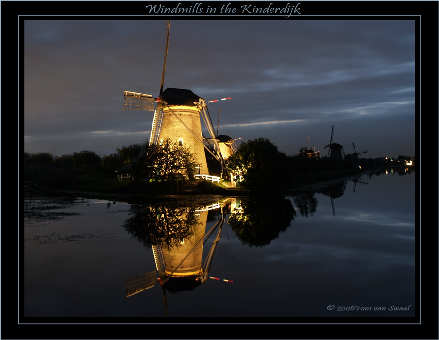 Windmills in the Kinderdijk