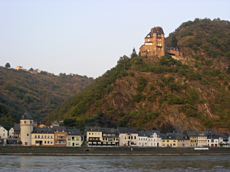 Kitschy Postcard Greetings from the Rhine Valley