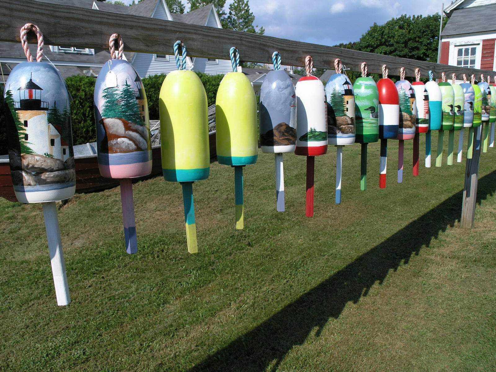 Painted Lobster Buoys
