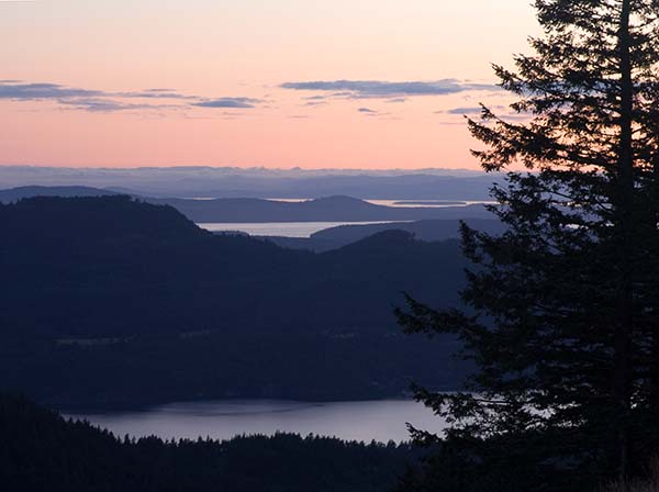 Twilight over San Juan Islands