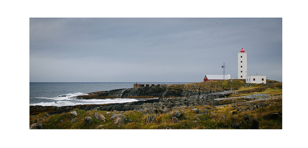 Lighthouse by the Arctic Ocean