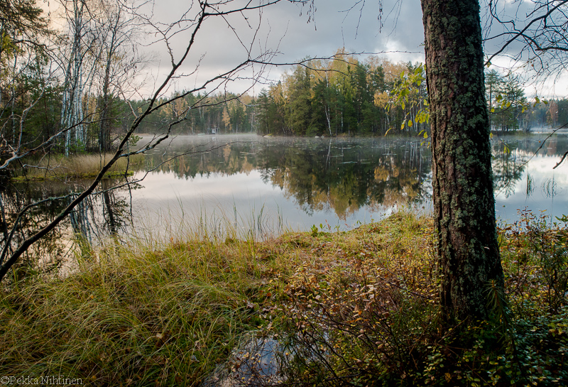 Autumn by a small lake 4