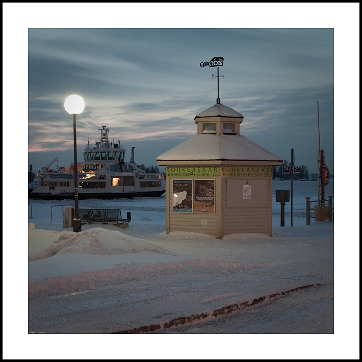 Ticket booth in harbour