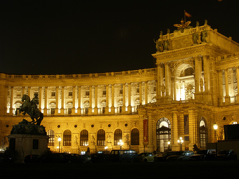 The Hofburg at night - coloured