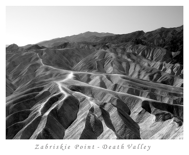 Zabriskie Point - Death Valley, reworked 06