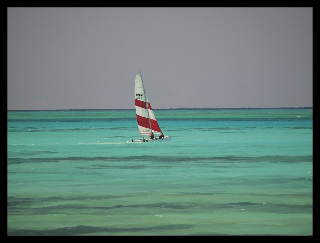 Sailing off of Zanzibar