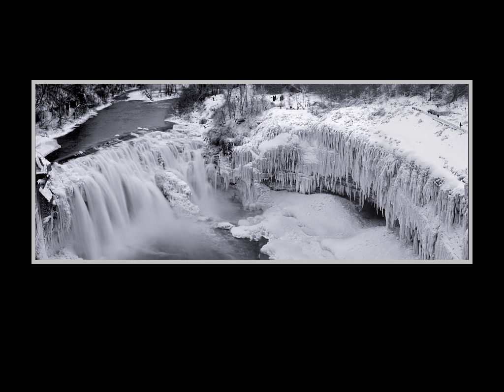 Lower Falls Park Iced Overview, Genesee River