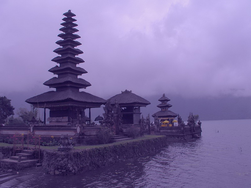 Cloudy  Kintamani Temple - Central Bali