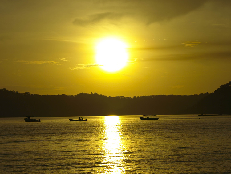 Sunset Over Golfo Papagayo in Costa Rica