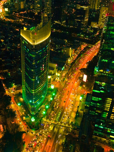 Night View along Soedirman