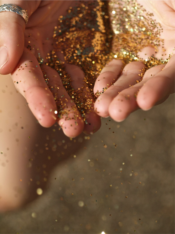 Image result for image of glitter on hands