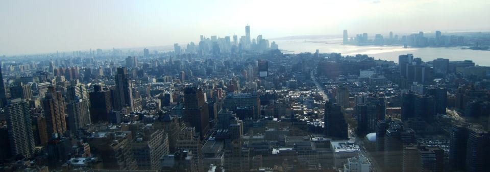 NYC from 52nd floor on Penn plaza building