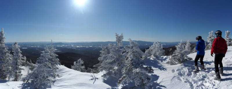 Winter View from Madonna Mountain